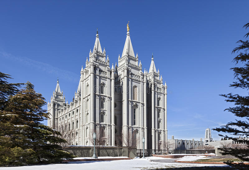 Templo de mórmon - o templo de Salt Lake, Utá imagem de stock royalty free