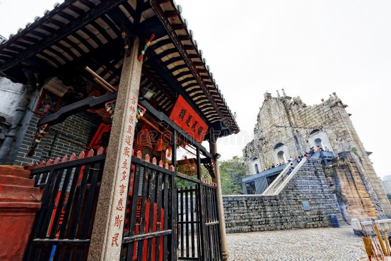 Templo de Macau imagem de stock royalty free