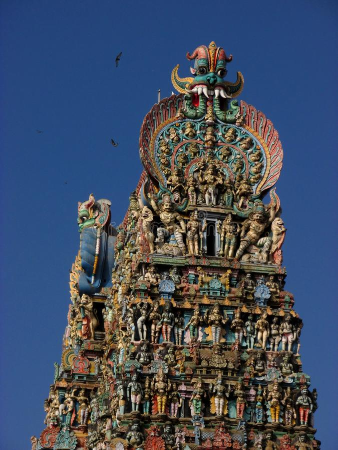 Templo de Madurai Meenakshi en la India fotografía de archivo libre de regalías