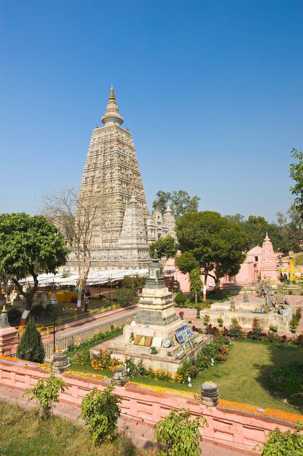 Templo de Mahabodhi, Bodhgaya foto de stock royalty free