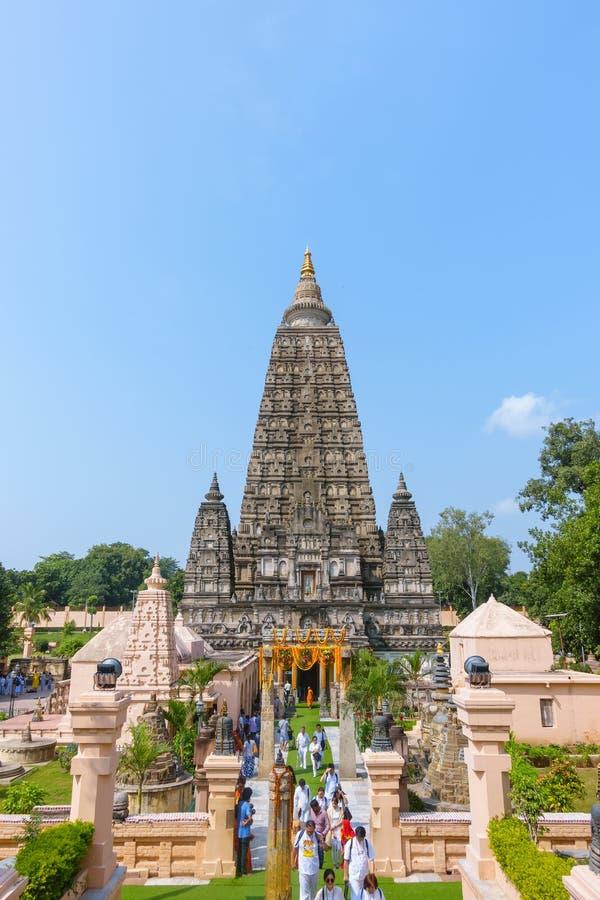 Templo de Mahabodhi, el sitio donde Gautam Buddha logró la aclaración fotografía de archivo