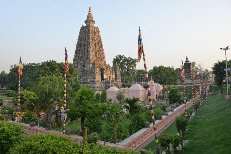 Templo de Mahabodhi imagens de stock
