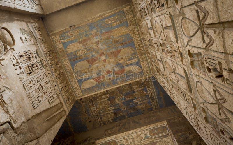 Templo de Medinet Habu, dedicado a Cisjordania de Rameses III - Mundo de la UNESCO imagenes de archivo