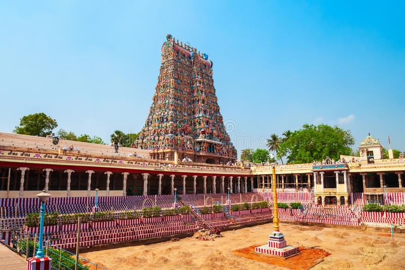 Templo de Meenakshi Amman en Madurai foto de archivo libre de regalías