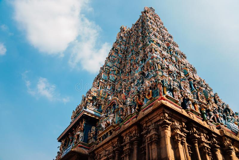 Templo de Meenakshi Amman en Madurai, la India fotografía de archivo libre de regalías