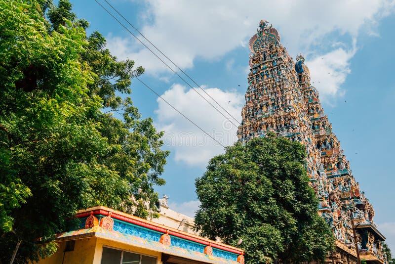 Templo de Meenakshi Amman en Madurai, la India fotografía de archivo