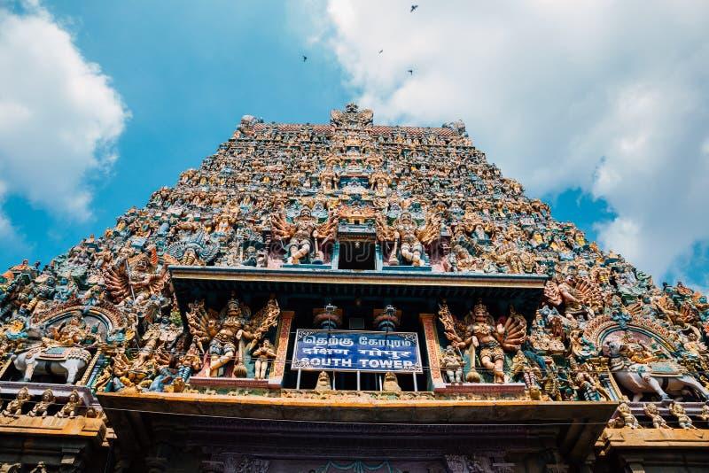 Templo de Meenakshi Amman en Madurai, la India foto de archivo libre de regalías