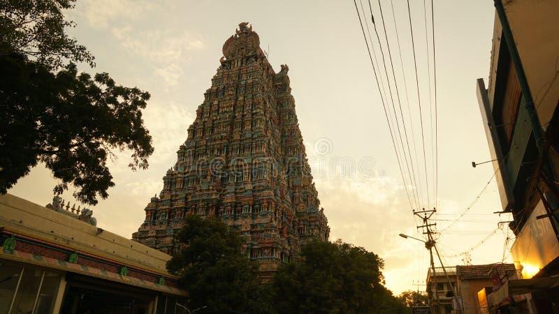 Templo de Meenakshi Amman en Madurai, la India imágenes de archivo libres de regalías
