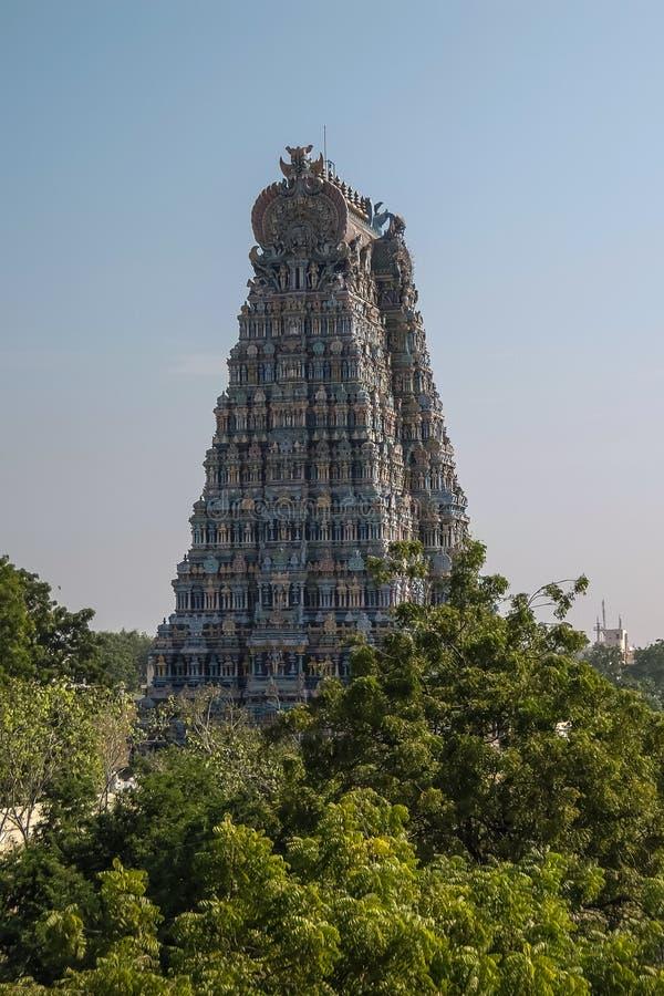 Templo de Meenakshi Sundareswarar en Madurai foto de archivo