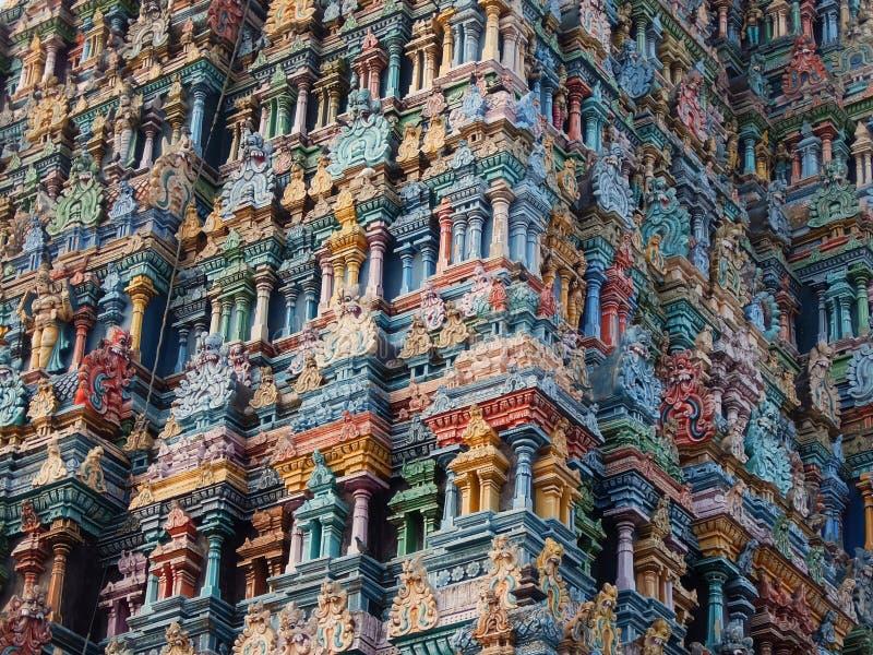Templo de Meenakshi Sundareswarar en Madurai Tamil Nadu, la India fotos de archivo libres de regalías
