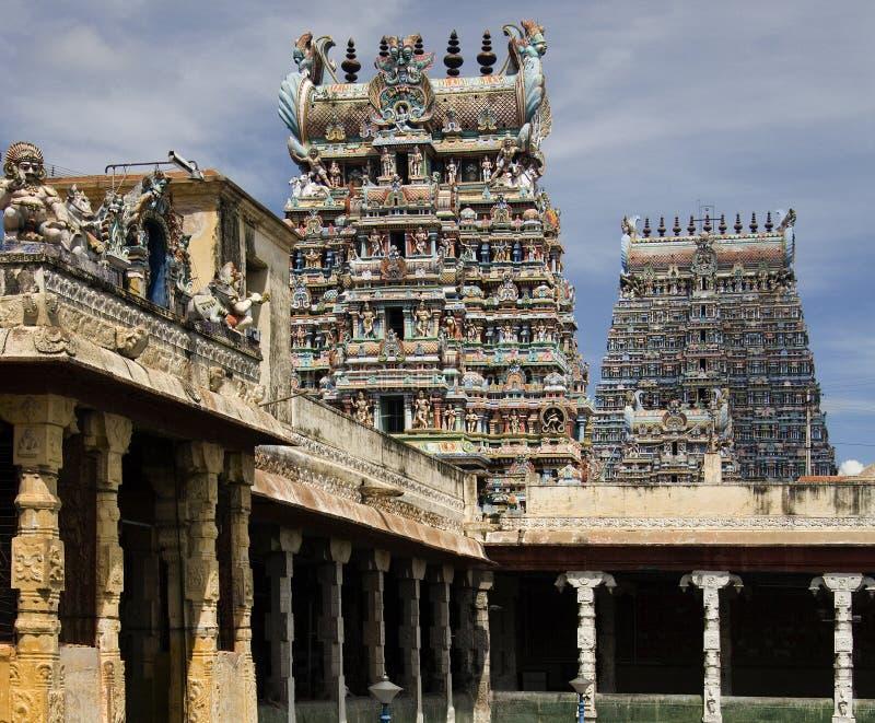 Templo de Minakshi - Madurai - Tamil Nadu - la India fotografía de archivo