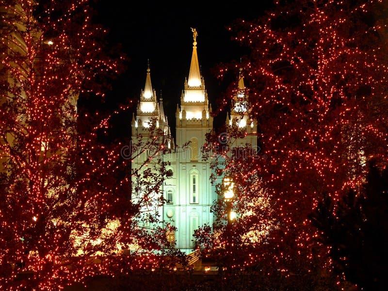 Templo de Mormon fotos de stock royalty free