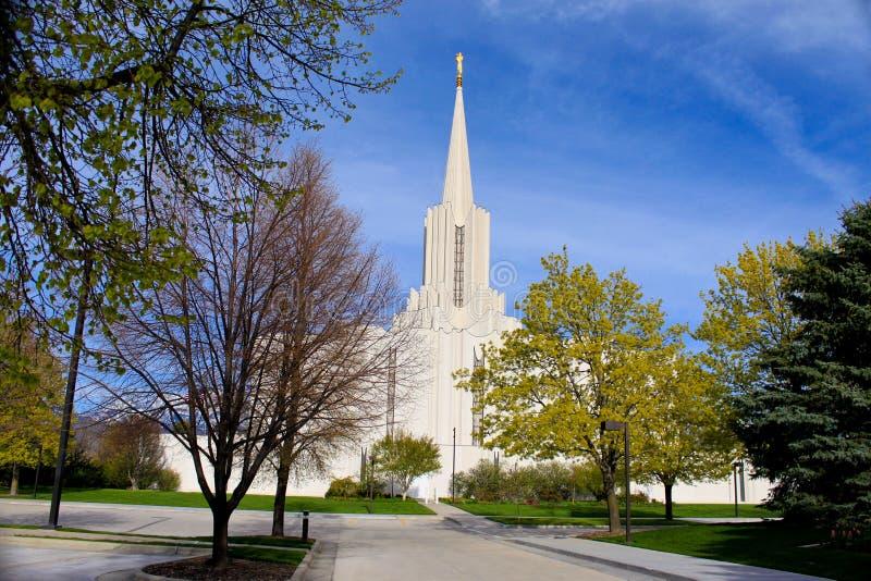 Templo de Mormon fotos de stock