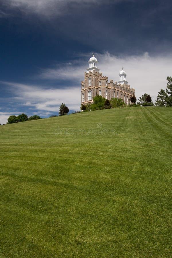 Templo de Mormon imagem de stock royalty free