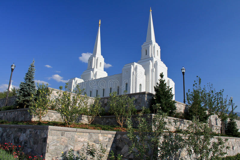 Templo de Mormon da cidade de Brigham foto de stock royalty free