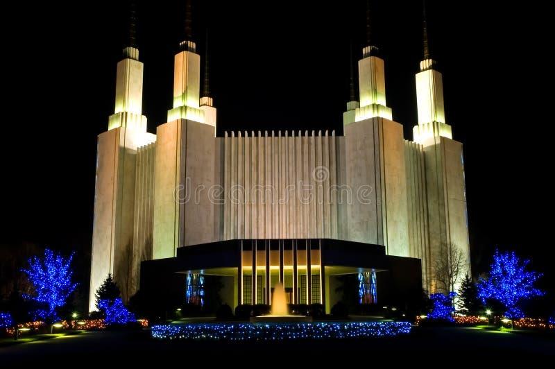Templo de Mormon - Washington DC - 2 foto de stock