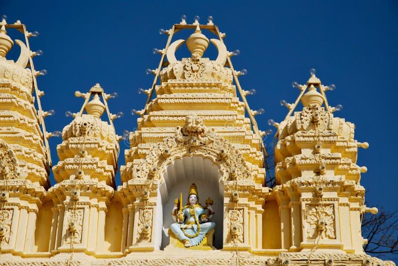 Templo de Mysore em India fotografia de stock royalty free
