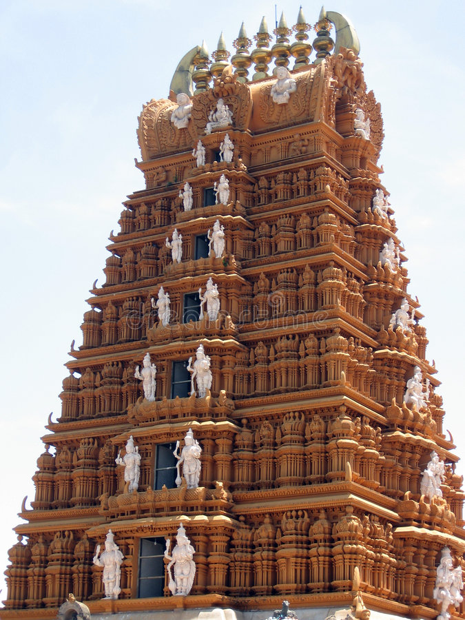 Templo de Nanjundeshwara em Nanjanagoodu, Karnataka, India imagens de stock