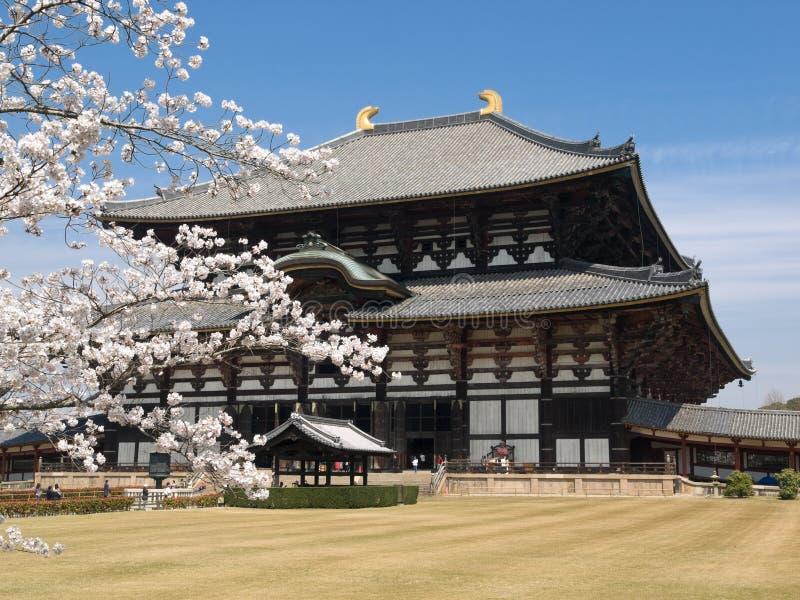 Templo de Nara Todaiji fotografia de stock