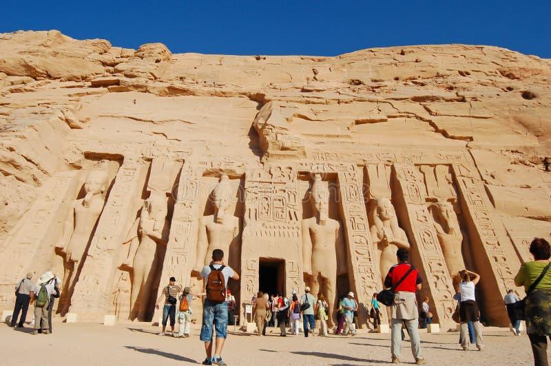 Templo de Nefertari no templo de Abu Simbel fotos de stock