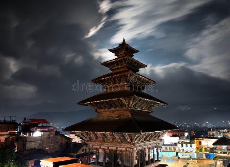 Templo de Nyatapola, quadrado de Bhaktapur Durbar, Nepal imagens de stock