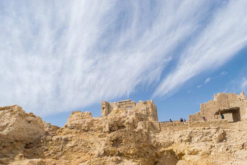 Templo de Oracle de Amun en la ciudad vieja del oasis de Siwa en Egipto fotografía de archivo libre de regalías