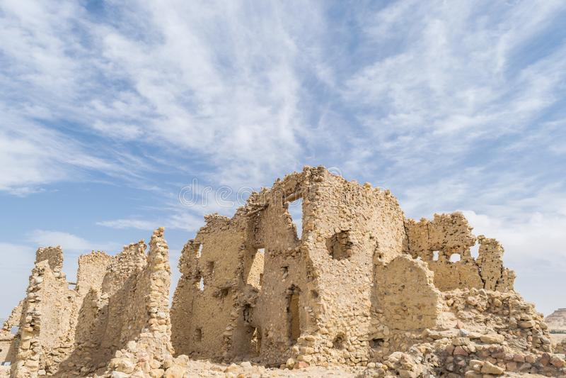 Templo de Oracle de Amun na cidade velha de oásis de Siwa em Egito foto de stock