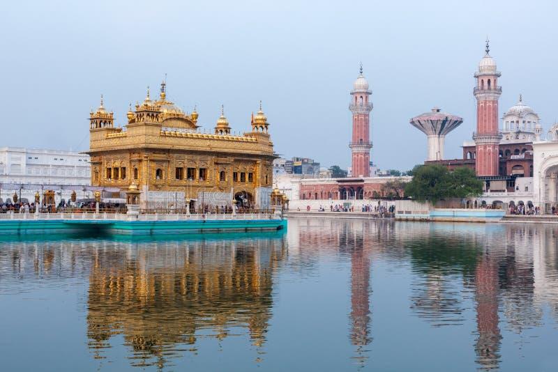 Templo de oro, Amritsar fotografía de archivo