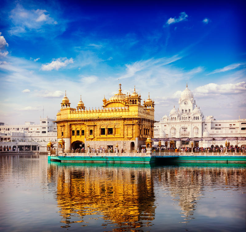 Templo de oro, Amritsar foto de archivo libre de regalías