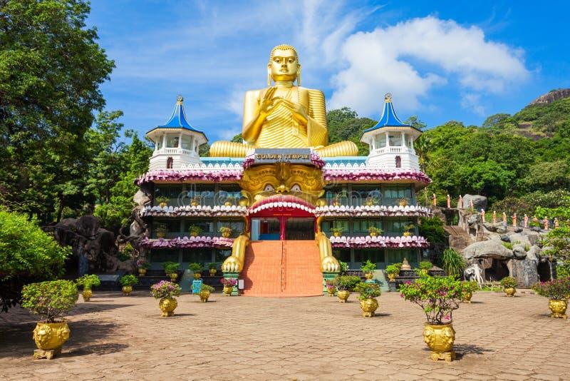 Templo de oro de Dambulla foto de archivo