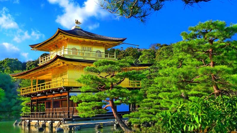 Templo de oro del zen de Japón fotografía de archivo