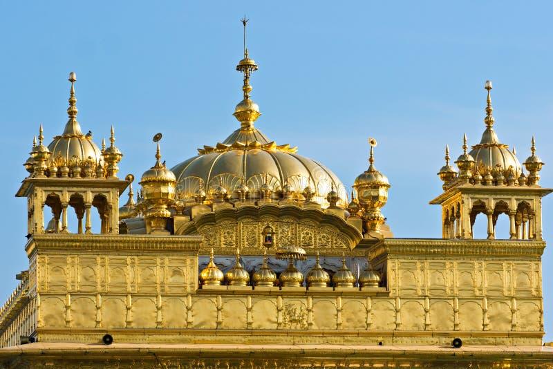 Templo de oro en Amritsar, Punjab, la India. imagenes de archivo