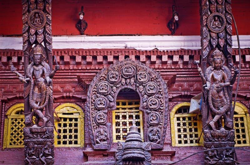 Templo de oro en Patan, ciudad de Lalitpur, Nepal imagenes de archivo