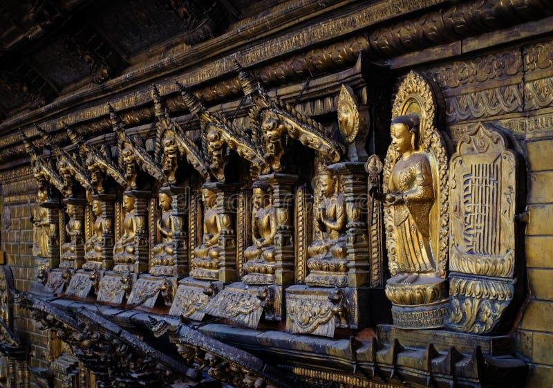 Templo de oro en Patan, Nepal imagen de archivo