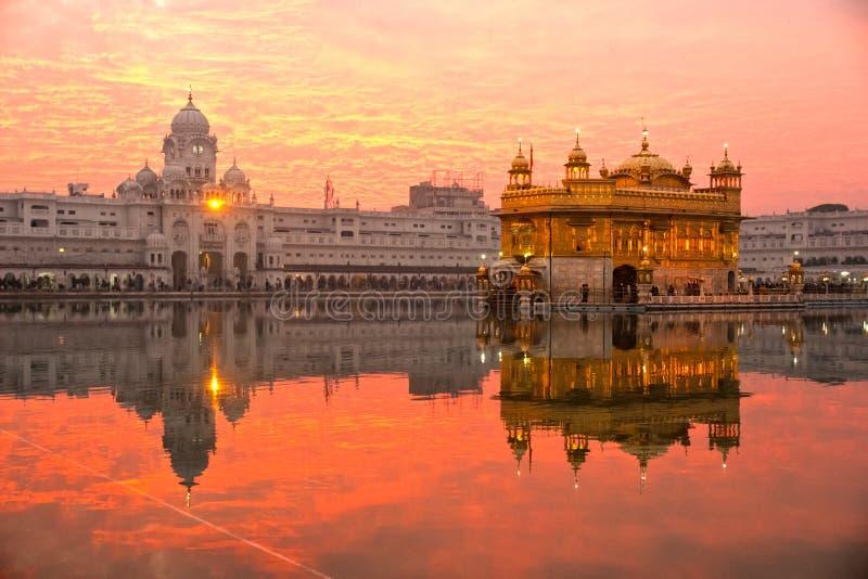 Templo de oro, Punjab, la India. fotografía de archivo