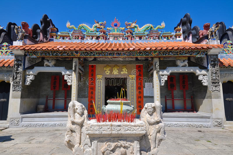 Templo de Pak TAI, Cheung Chau, Hong Kong foto de stock
