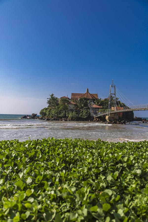 Templo de Paravi Duwa em Matara, Sri Lanka imagem de stock