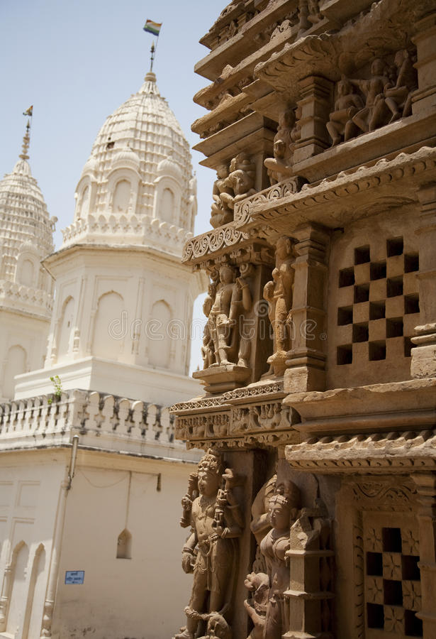 Templo de Parshwanath, Khajuraho foto de stock royalty free