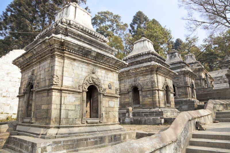 Templo de Pashupatinath, Kathmandu, Nepal imagem de stock