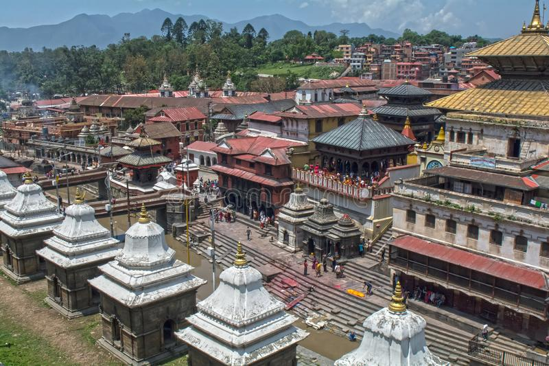 Templo de Pashupatinath Katmandu Nepal fotos de archivo