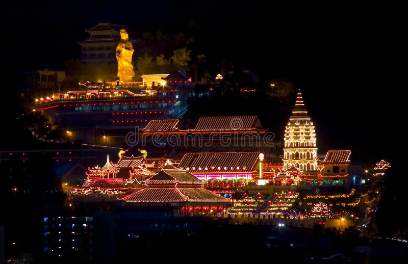 Templo de Penang Kek Lok Si, Malaysia imagem de stock royalty free