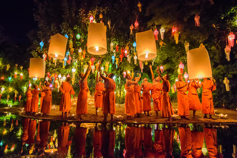 Templo de Phan Tao fotos de archivo