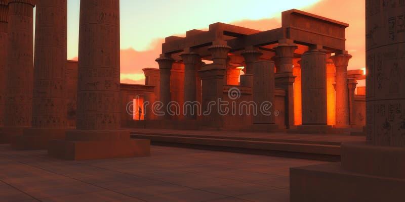Templo de Pharaohs antiguos imagenes de archivo
