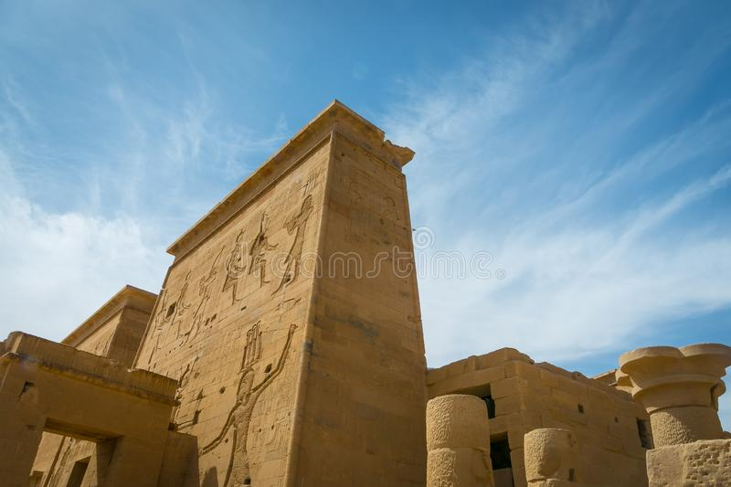Templo de Philae, templo do Isis imagem de stock royalty free