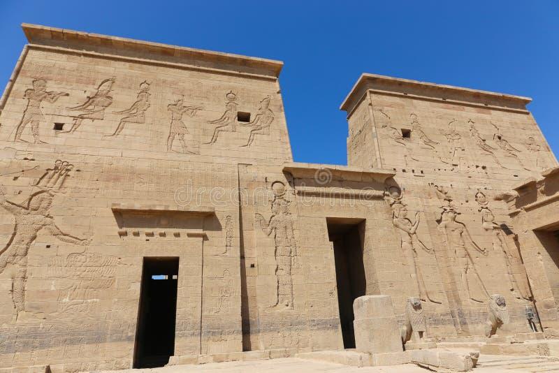 Templo de Philae - Egipto imagen de archivo