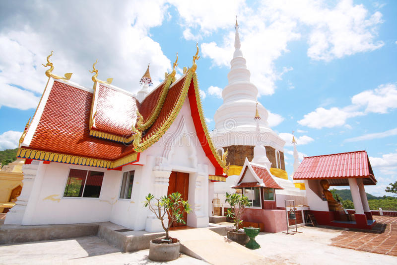 Templo de Phra Jedi Sriwichai Jom Kiri, Lamphun Tailandia imagen de archivo libre de regalías