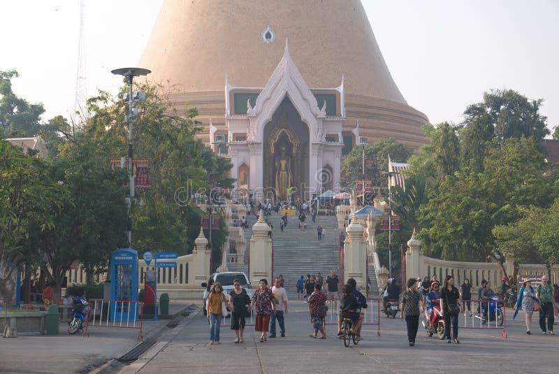 Templo de Phra Pathom Chedi em Nakhon Pathom não 2 fotos de stock royalty free