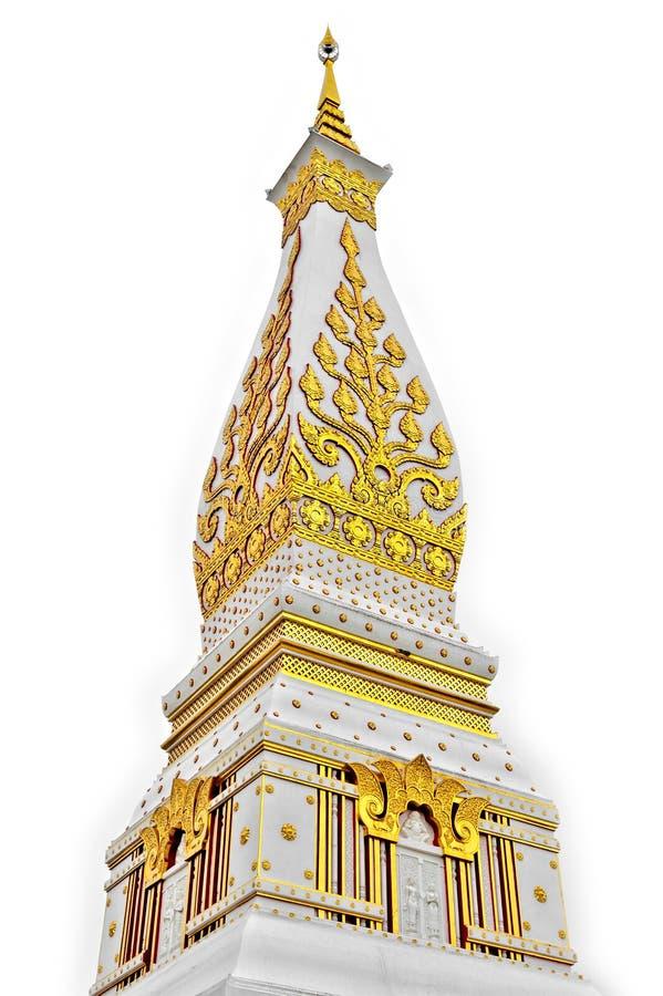 Templo de Phra que Phanom Stupa, estructuras budistas importantes de Theravada en la región adentro en la provincia de Nakhon Pha imágenes de archivo libres de regalías