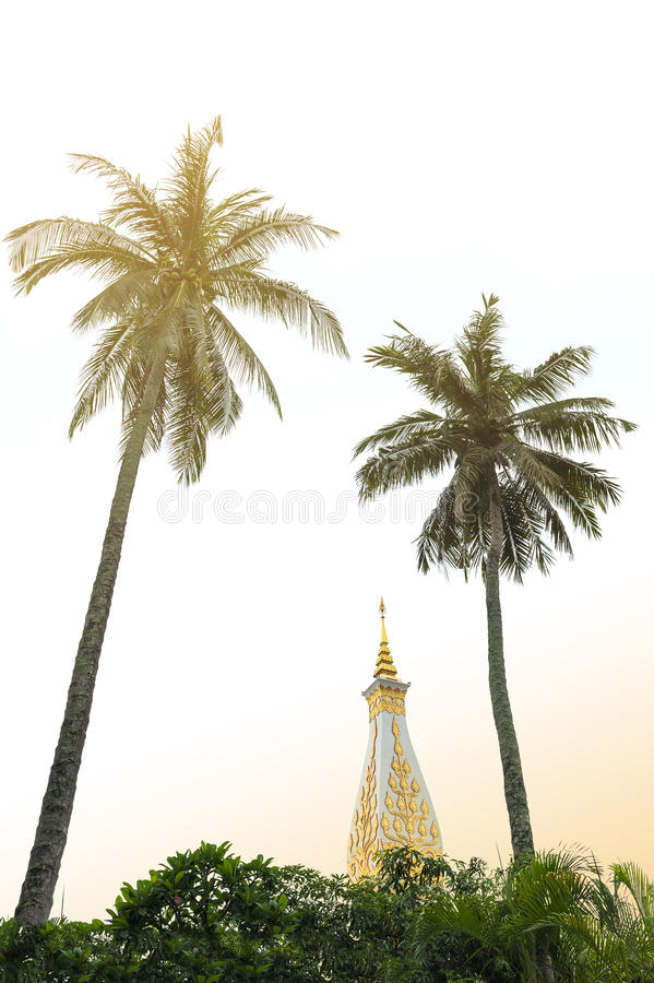 Templo de Phra que Phanom Stupa, estructuras budistas importantes de Theravada en la región adentro en la provincia de Nakhon Pha fotografía de archivo libre de regalías