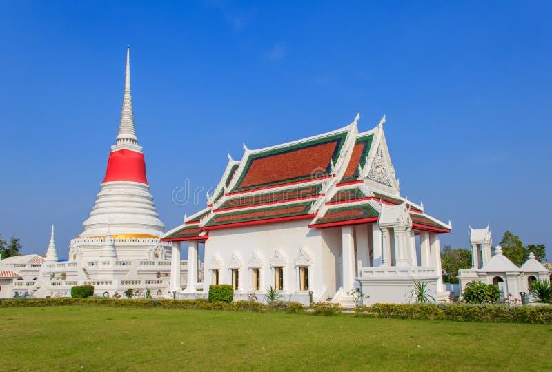 Templo de Phra Samut Chedi imagen de archivo